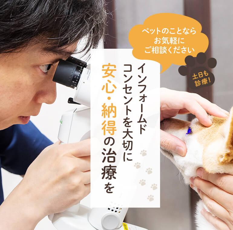 飼い主様と同じ目線でペットの健康を守るお手伝い